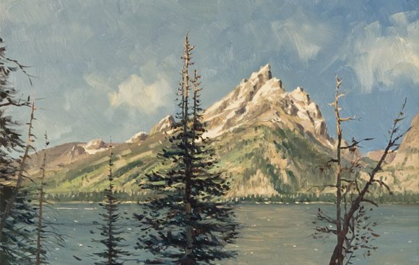 """Grand Teton from Jenny Lake"""