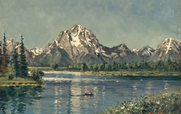 """Mount Moran from Oxbow Bend"""