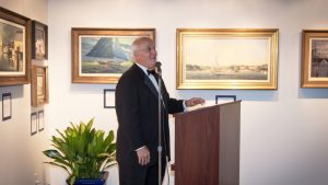 DMM President Bob LeBoeuf addresses the guests.