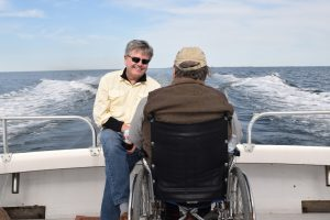 The trip back across the Bay from the Eastern Shore of Maryland gave John and John a chance to discuss the day.