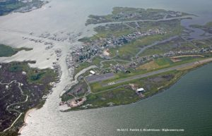 Tangier Island as seen from above.