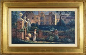 Beautifully framed in carat gold guilded molding.